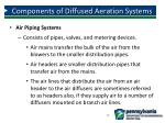 components of diffused aeration systems8
