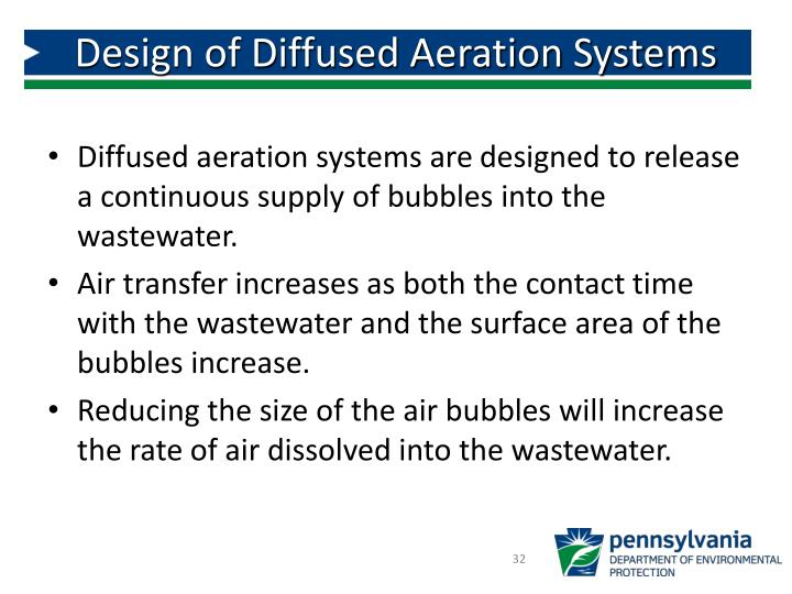 Design of Diffused Aeration Systems