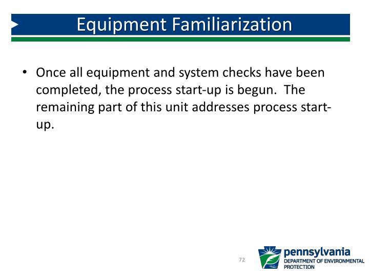 Equipment Familiarization