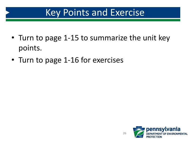 Key Points and Exercise