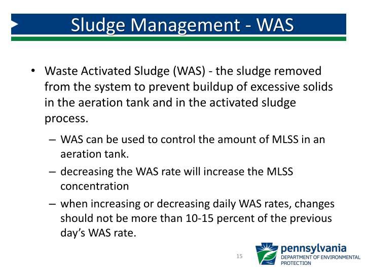 Sludge Management - WAS