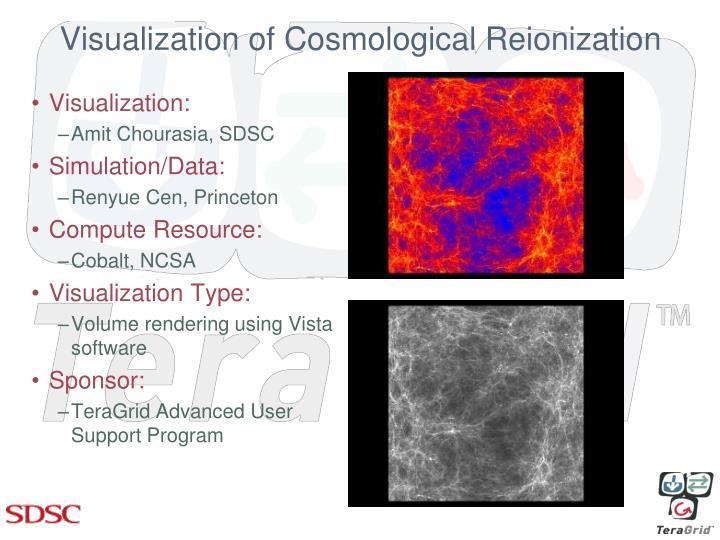 Visualization of Cosmological Reionization
