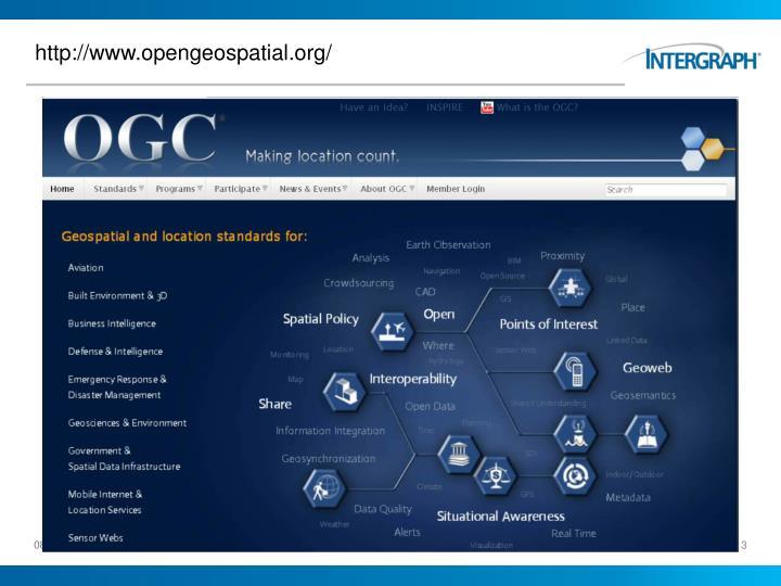 http://www.opengeospatial.org/