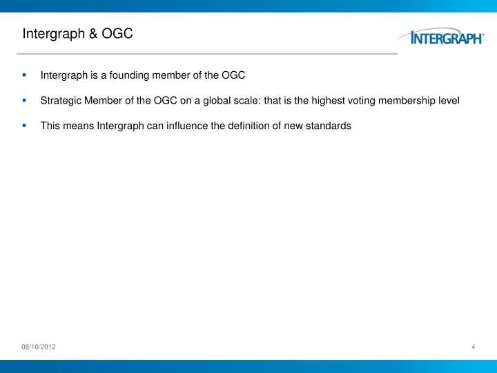 Intergraph & OGC