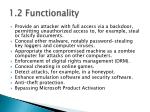 1 2 functionality