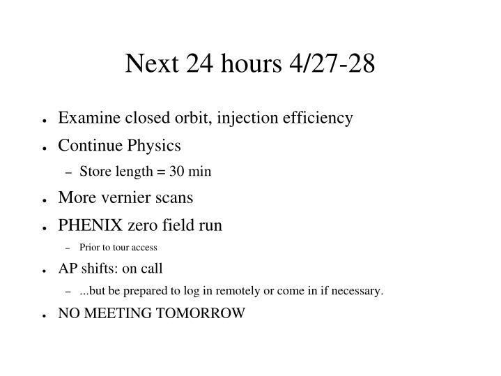 Next 24 hours 4/27-28