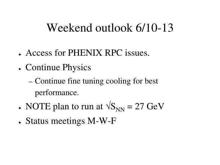 Weekend outlook 6/10-13