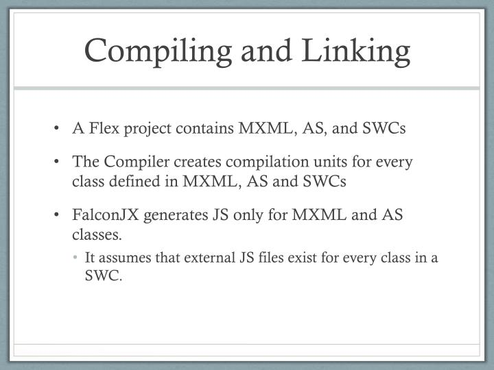 Compiling and Linking