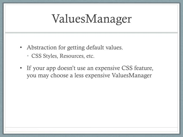 ValuesManager