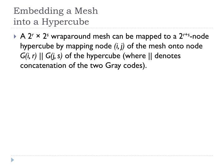 Embedding a Mesh