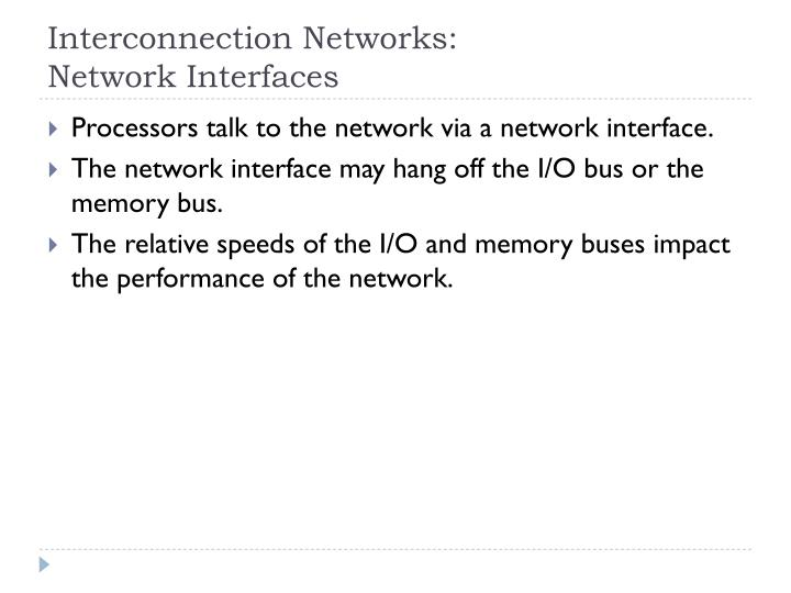 Interconnection Networks: