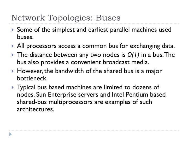 Network Topologies: Buses