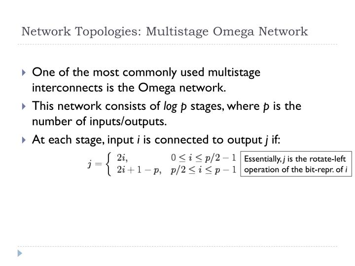 Network Topologies: Multistage Omega Network