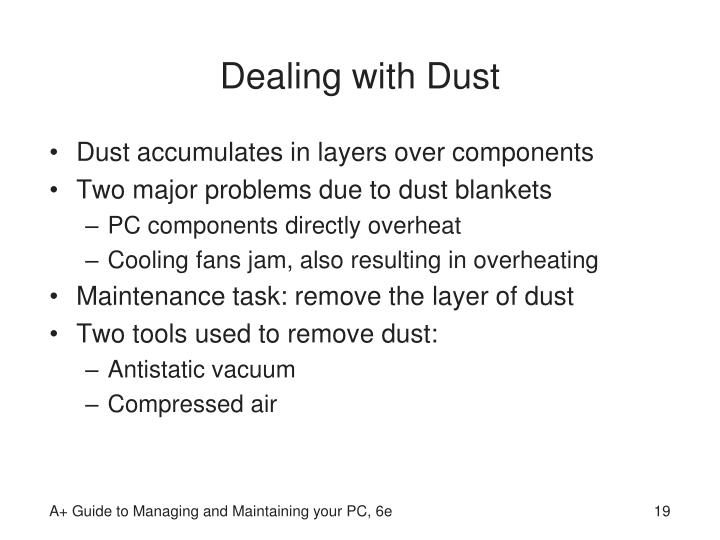 Dealing with Dust