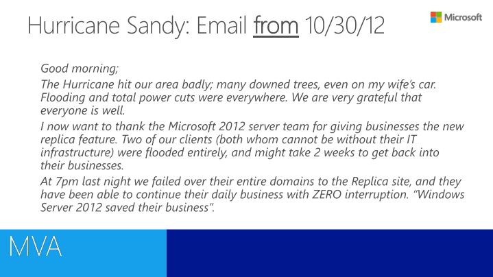 Hurricane Sandy: Email