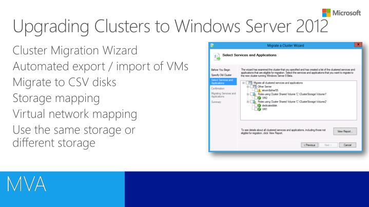 Upgrading Clusters to Windows Server 2012