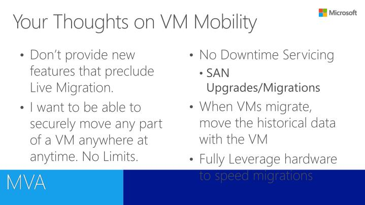 Your Thoughts on VM Mobility