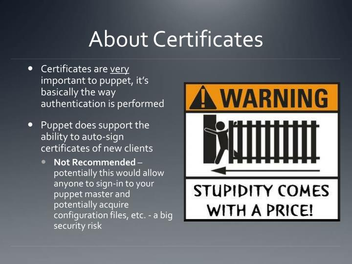 About Certificates