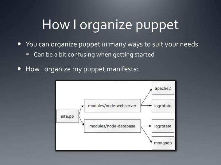 How I organize puppet