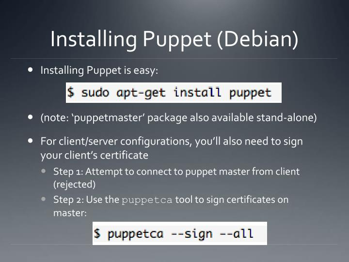 Installing Puppet (