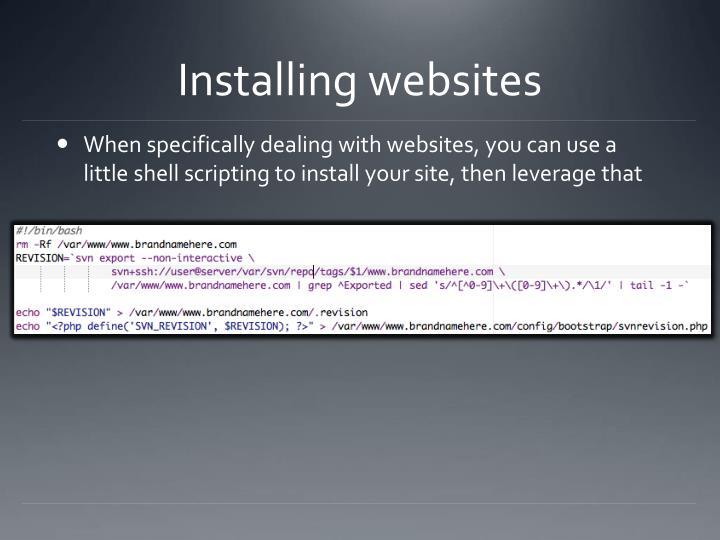 Installing websites