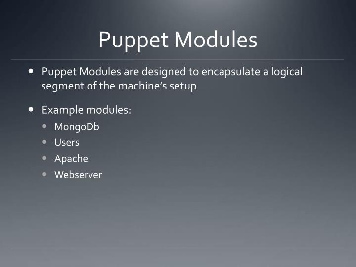 Puppet Modules