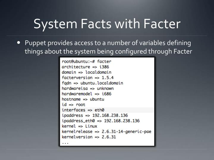 System Facts with