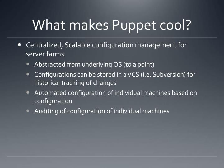 What makes Puppet cool?