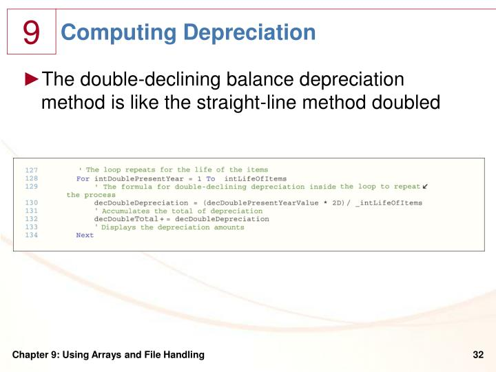 Computing Depreciation