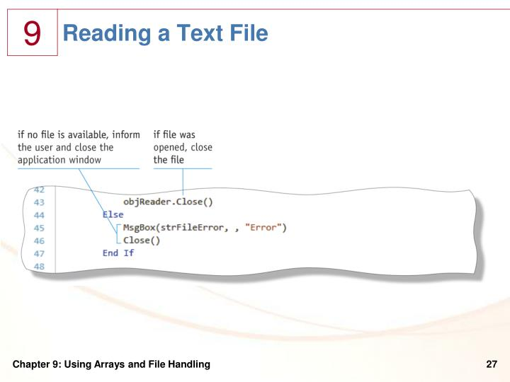 Reading a Text File
