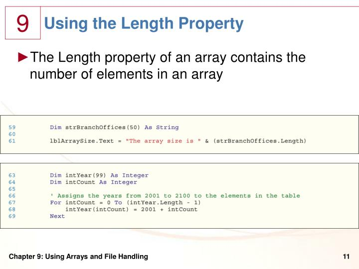 Using the Length Property