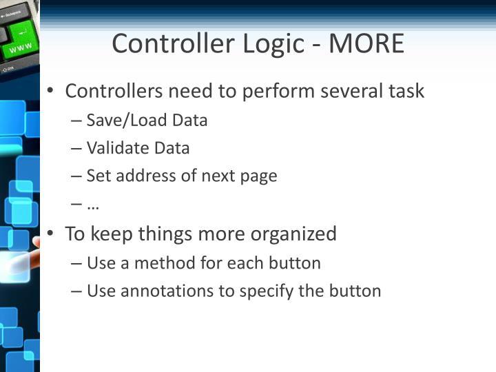 Controller Logic - MORE