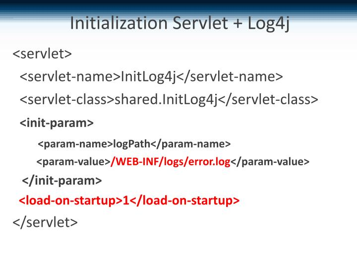 Initialization Servlet + Log4j