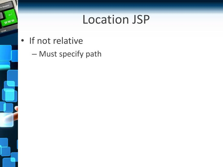 Location JSP