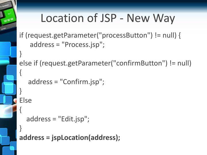 Location of JSP - New Way