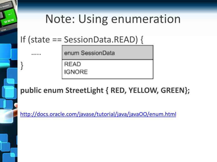 Note: Using enumeration