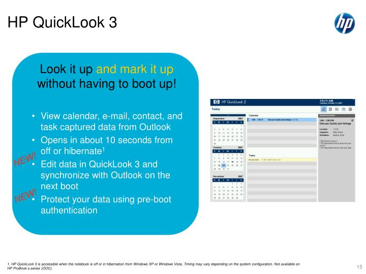HP QuickLook 3