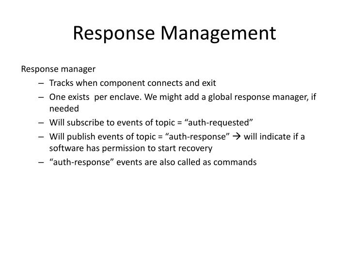 Response Management