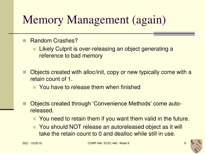 Memory Management (again)