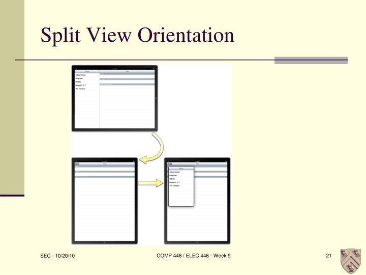 Split View Orientation