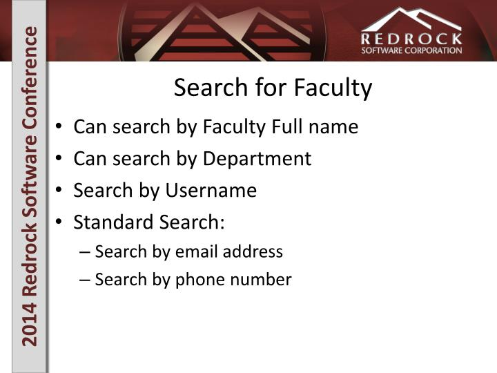 Search for Faculty