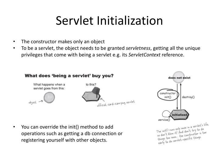 Servlet Initialization