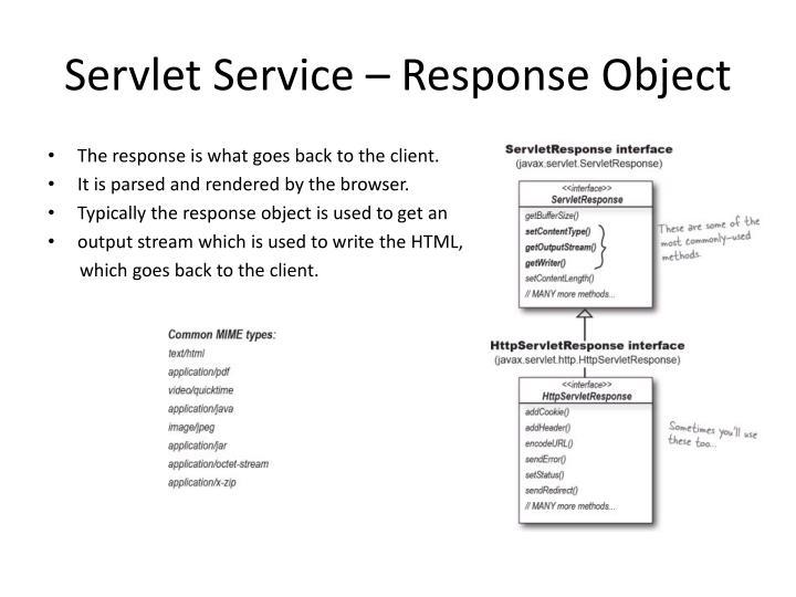 Servlet Service – Response Object