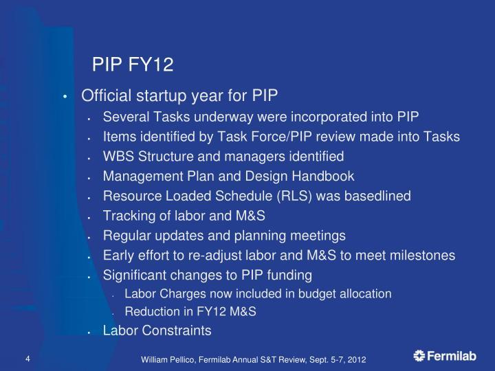 PIP FY12
