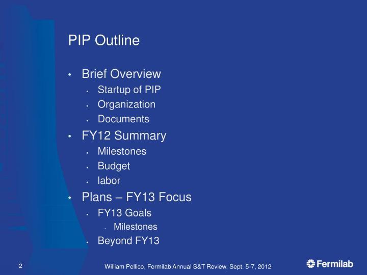 PIP Outline