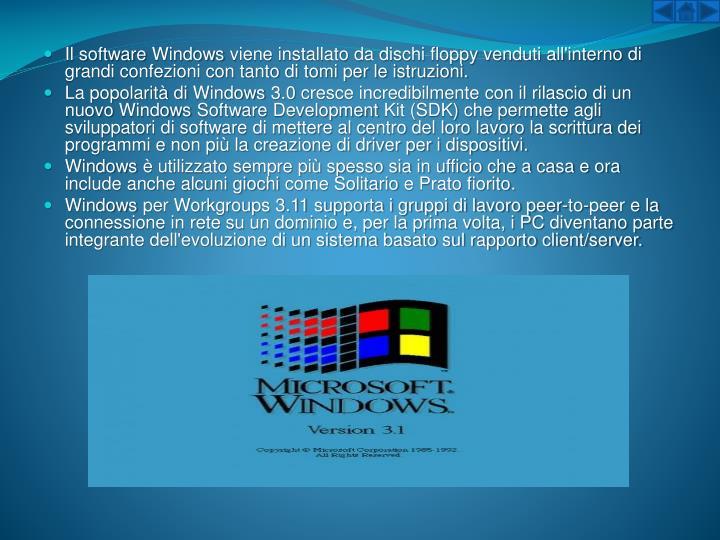 Il softwareWindowsviene installato da dischi floppy venduti all'interno di grandi confezioni con tanto di tomi per le istruzioni.