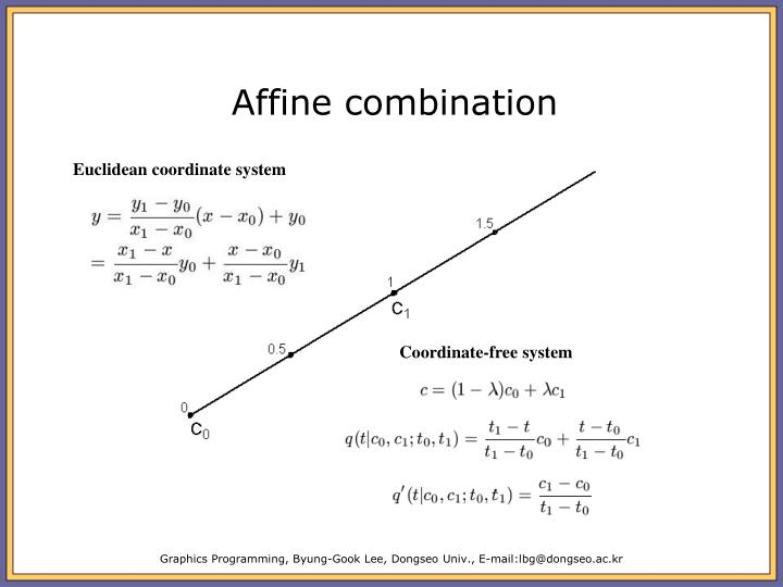 Affine combination