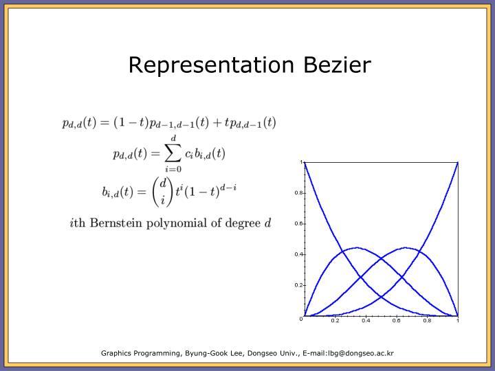 Representation Bezier