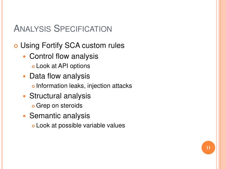 Analysis Specification