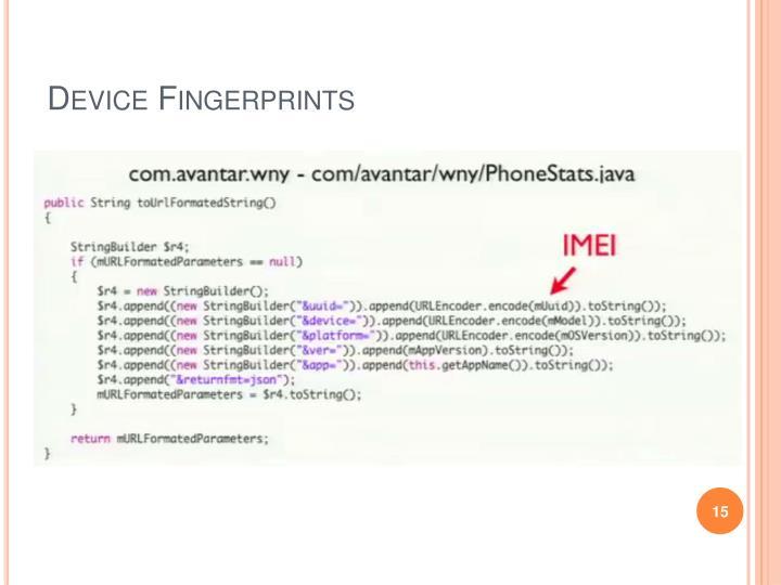 Device Fingerprints